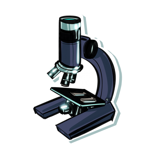icona microscopio simbolo di prevenzione, salute