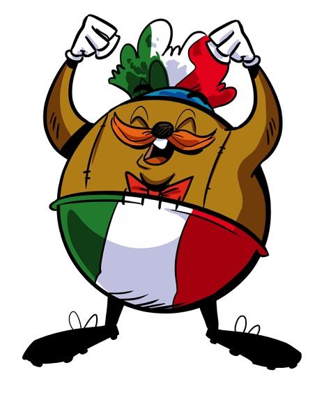 Pallard vestito con la bandiera italiana